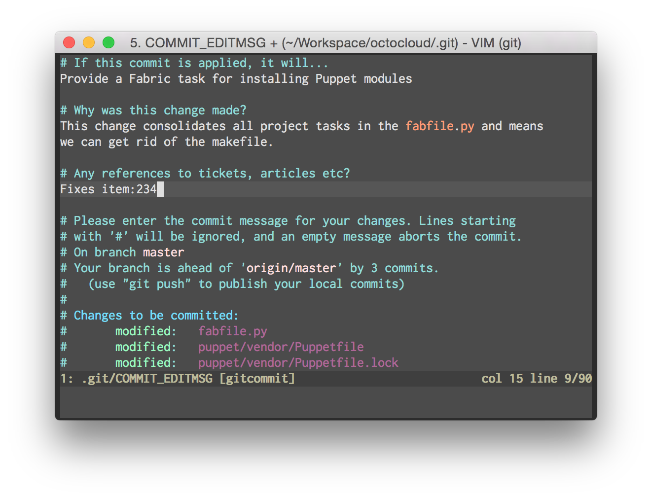 A Useful Template For Commit Messages David Winterbottom